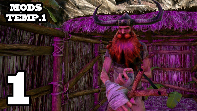 PALILLO EL BARBUDO!! ARK: Survival Evolved #1 Con Mods