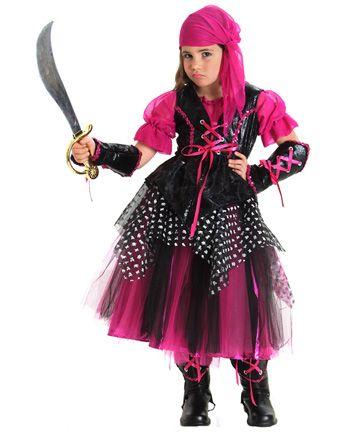 Pirate costume idea, cute for under age 10 Halloween ideas - halloween costume girl ideas