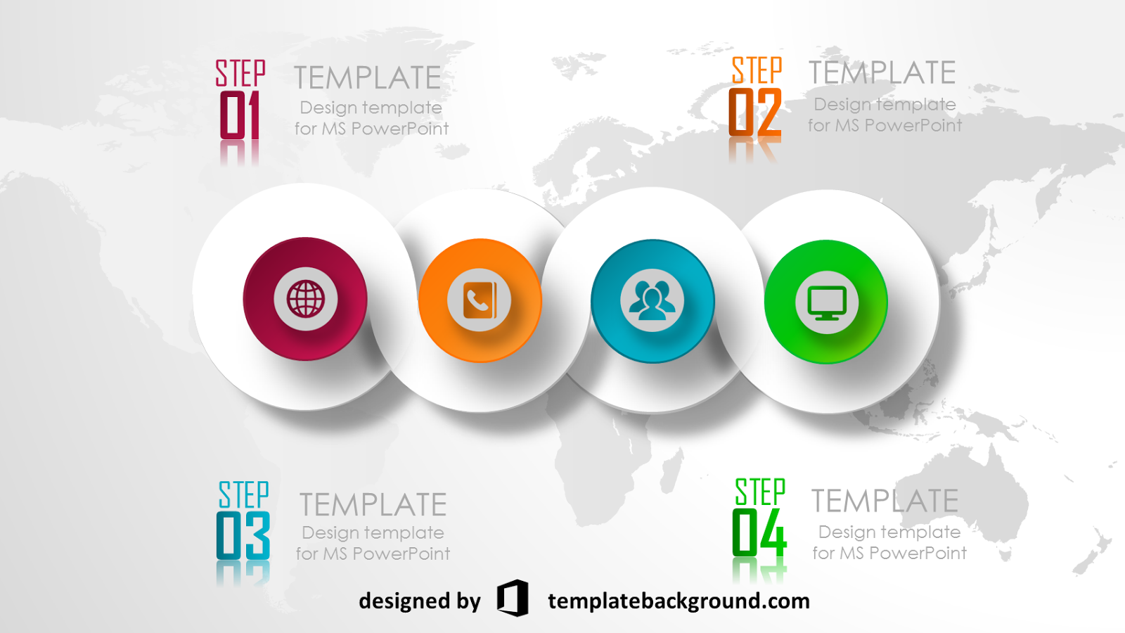 Free 3D animated powerpoint templates Infografis
