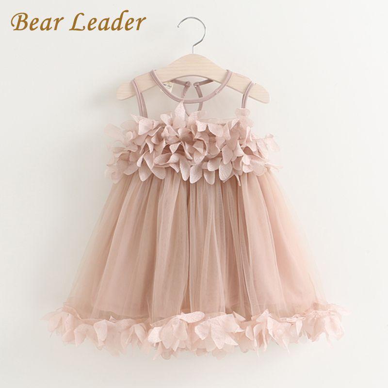 a7d68438fd916 Bear Leader Girls Dress 2017 New Summer Mesh Girls Clothes Pink ...
