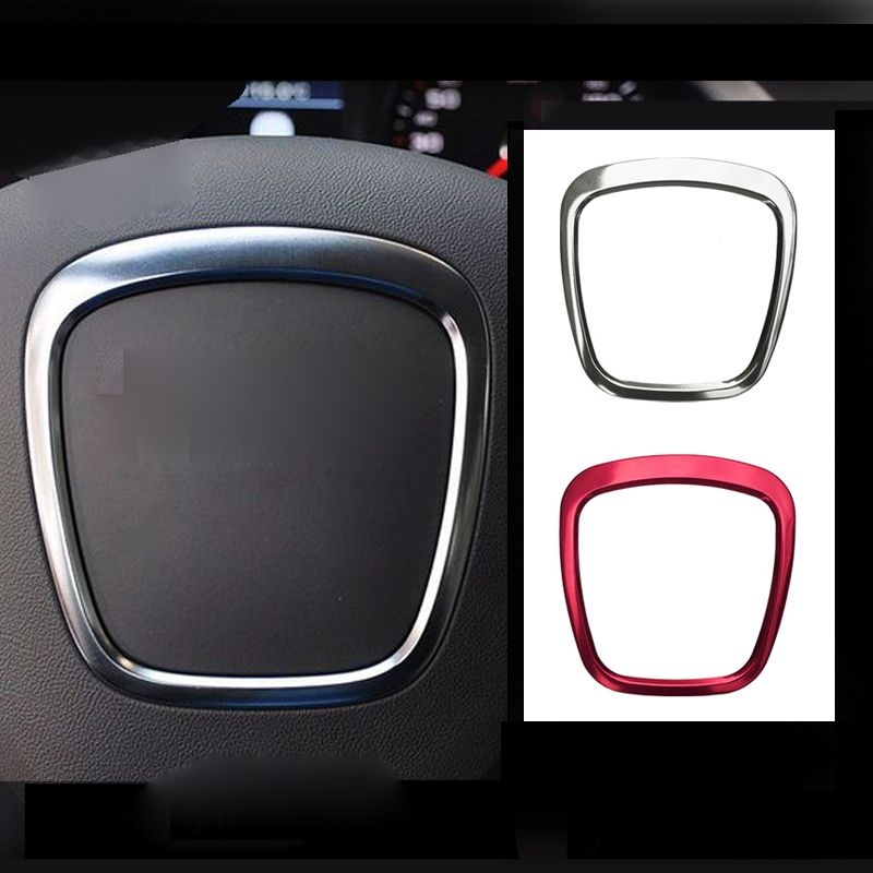 for audi a3 a4 a6l q3 airbag cover steering wheel trim cover sticker sequin decoration car. Black Bedroom Furniture Sets. Home Design Ideas
