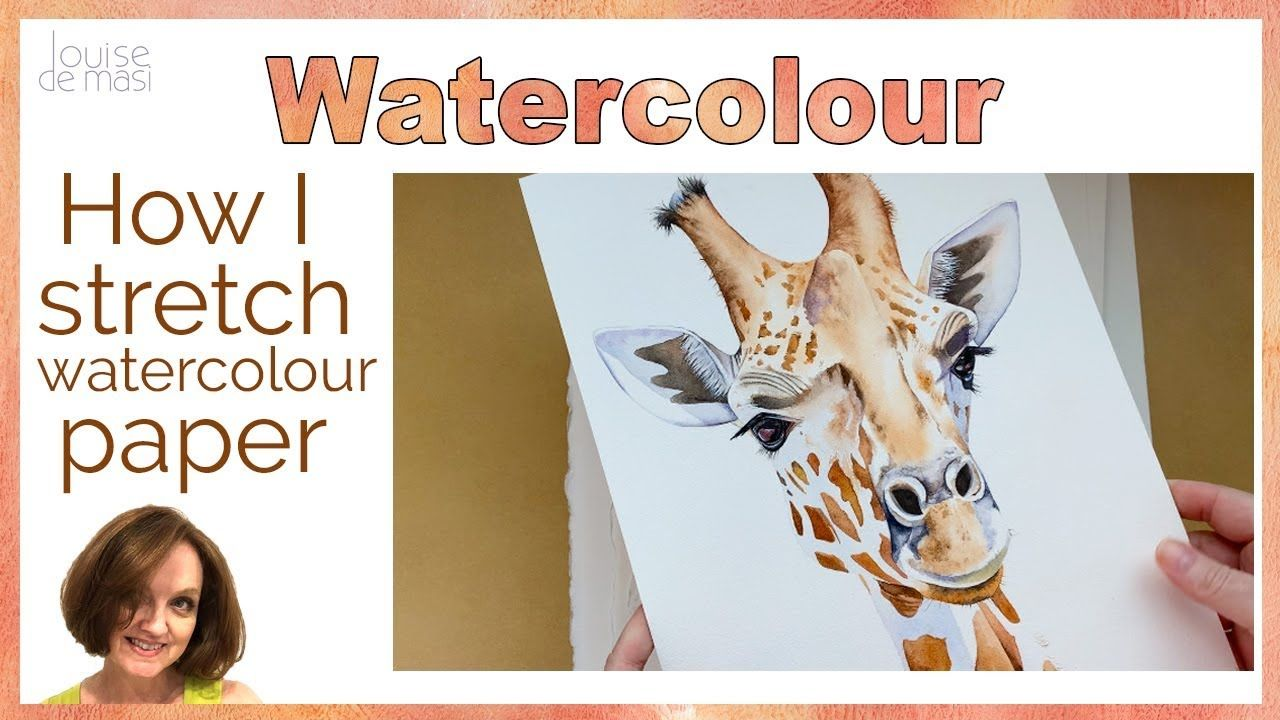 How to stretch watercolor paper // How I keep my