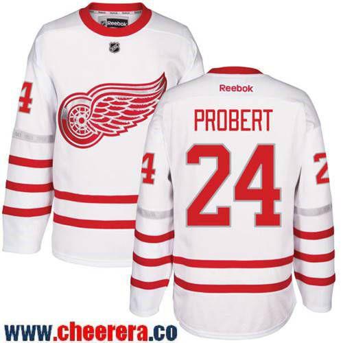 Men s Detroit Red Wings  24 Bob Probert White 2017 Centennial Classic Stitched  NHL Reebok Hockey Jersey fa218b033