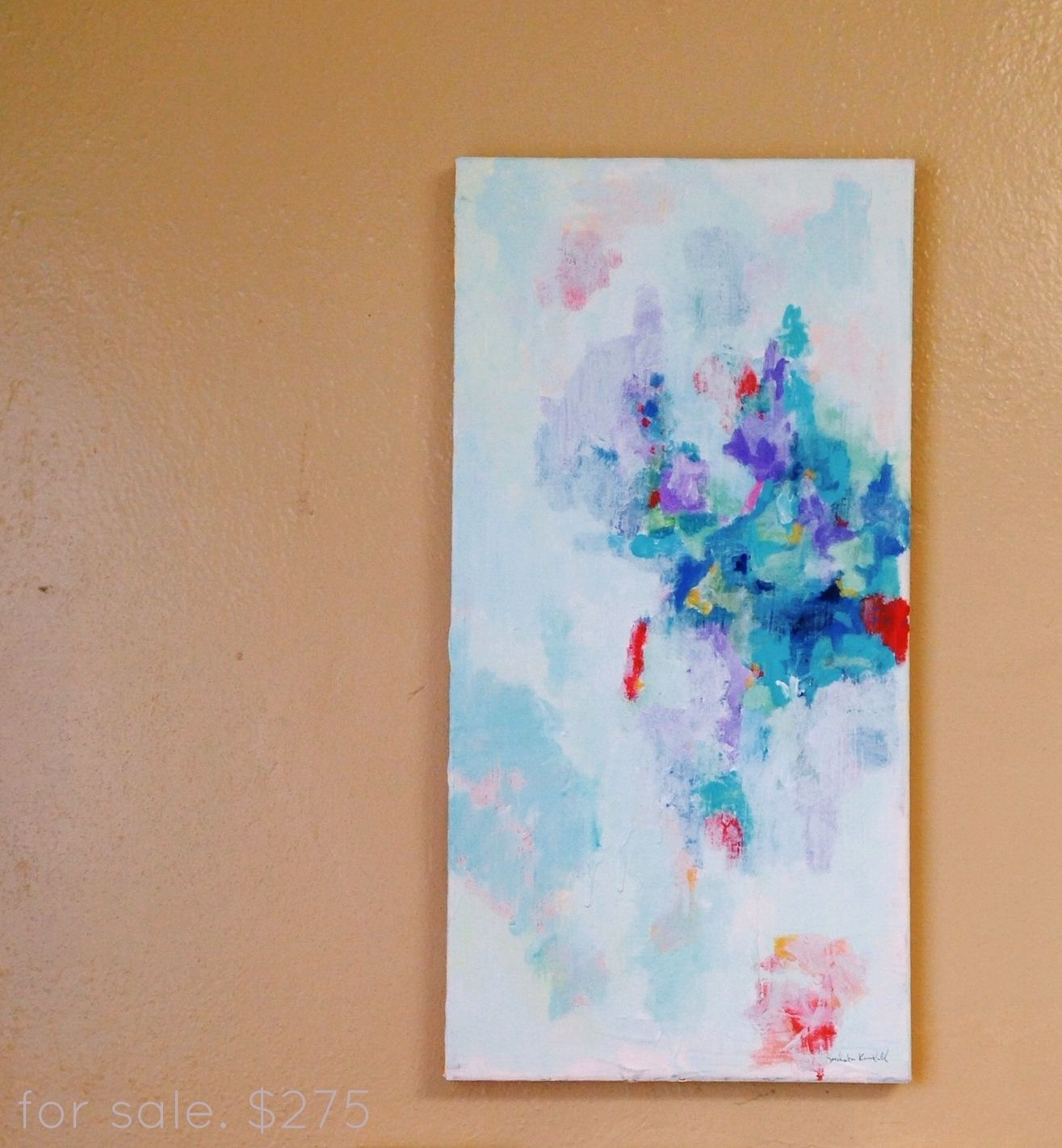 abstract blue colorful art  acrylic painting by Sarabeth Kendall more info: sarabethkendall.com