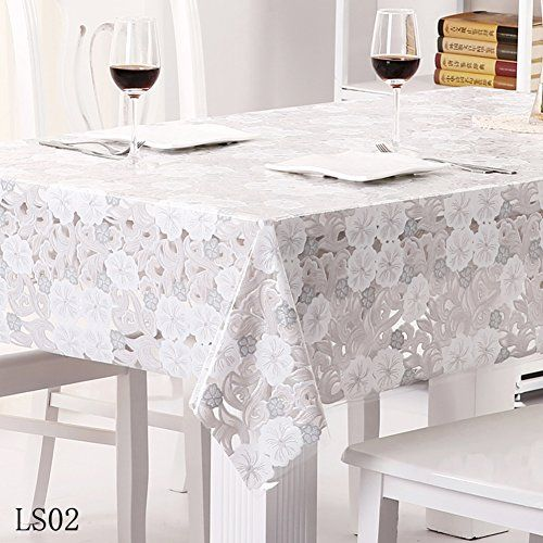 Pvc Tablecloth Waterproof Lace Oil Free Wash Tea Table Cloth Brilliant Dining Room Tablecloths Decorating Inspiration
