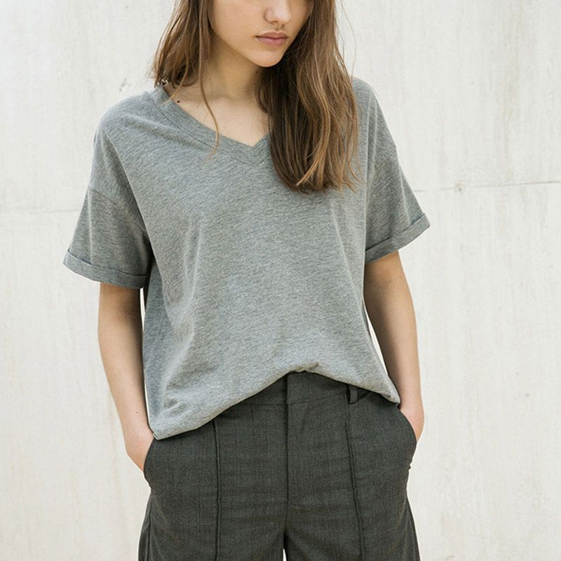 Summer 2017 womens clothing T shirt tide round collar