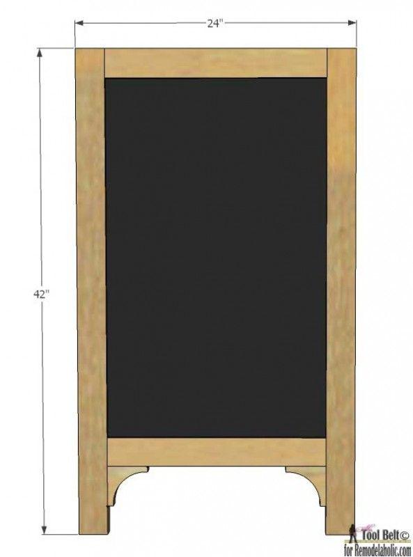 Build A Super Cute Large Diy Chalkboard Easel To Create