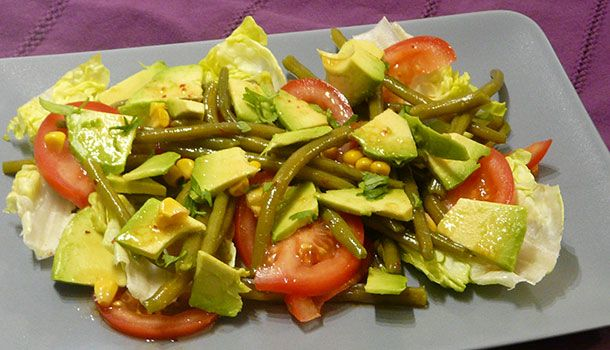 Salade avocat haricots verts - Simple & Gourmand