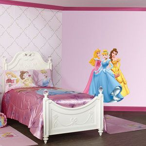 Fathead Aurora Cinderella And Belle Wall Graphic Walmart 106 00 Girl Beds Girls Room Decor Girls Bunk Beds
