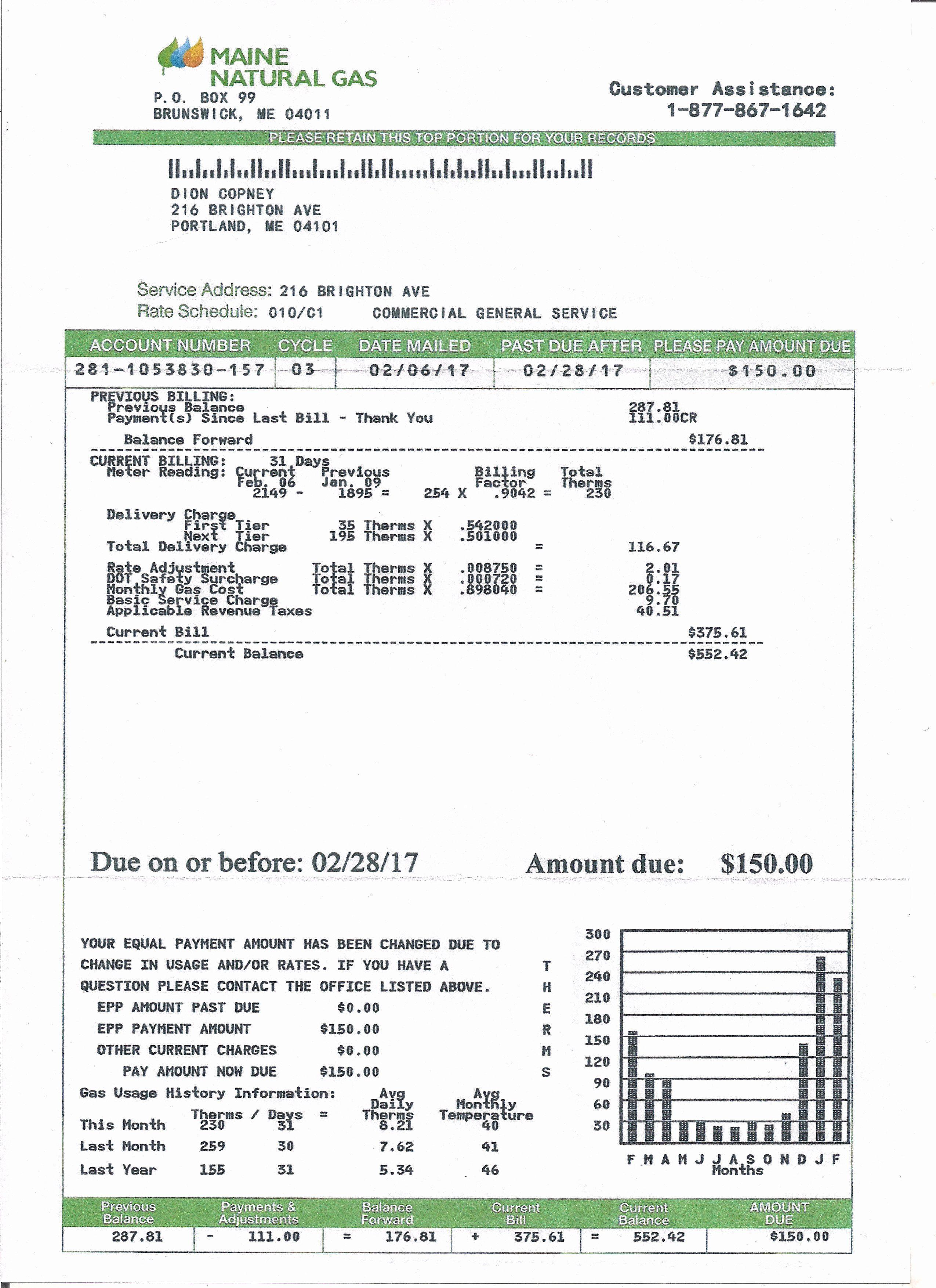 Fake utility bill template best of utility bill statement