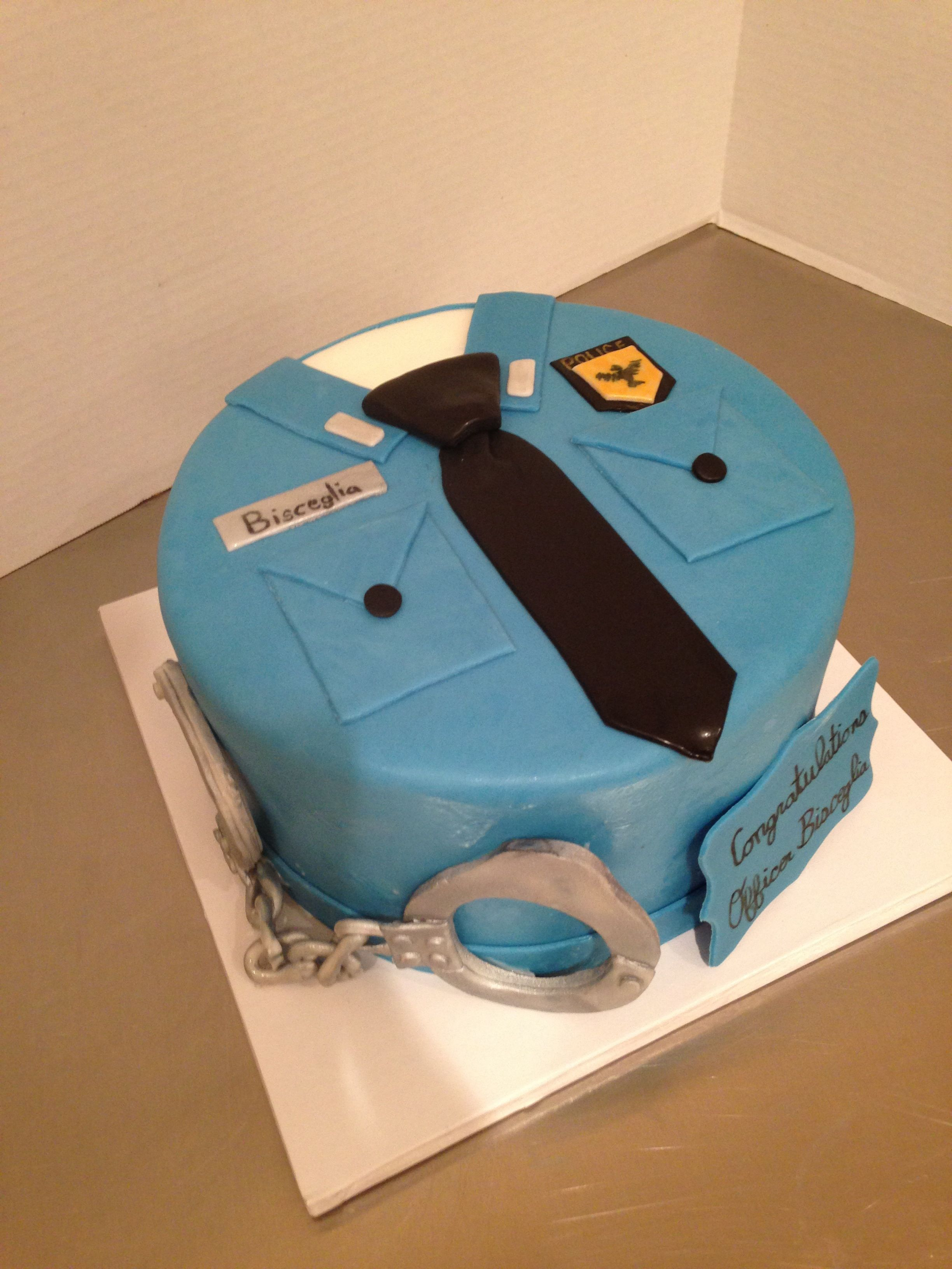 Superb Police Officer Uniform Cake With Images Police Cakes Funny Birthday Cards Online Necthendildamsfinfo