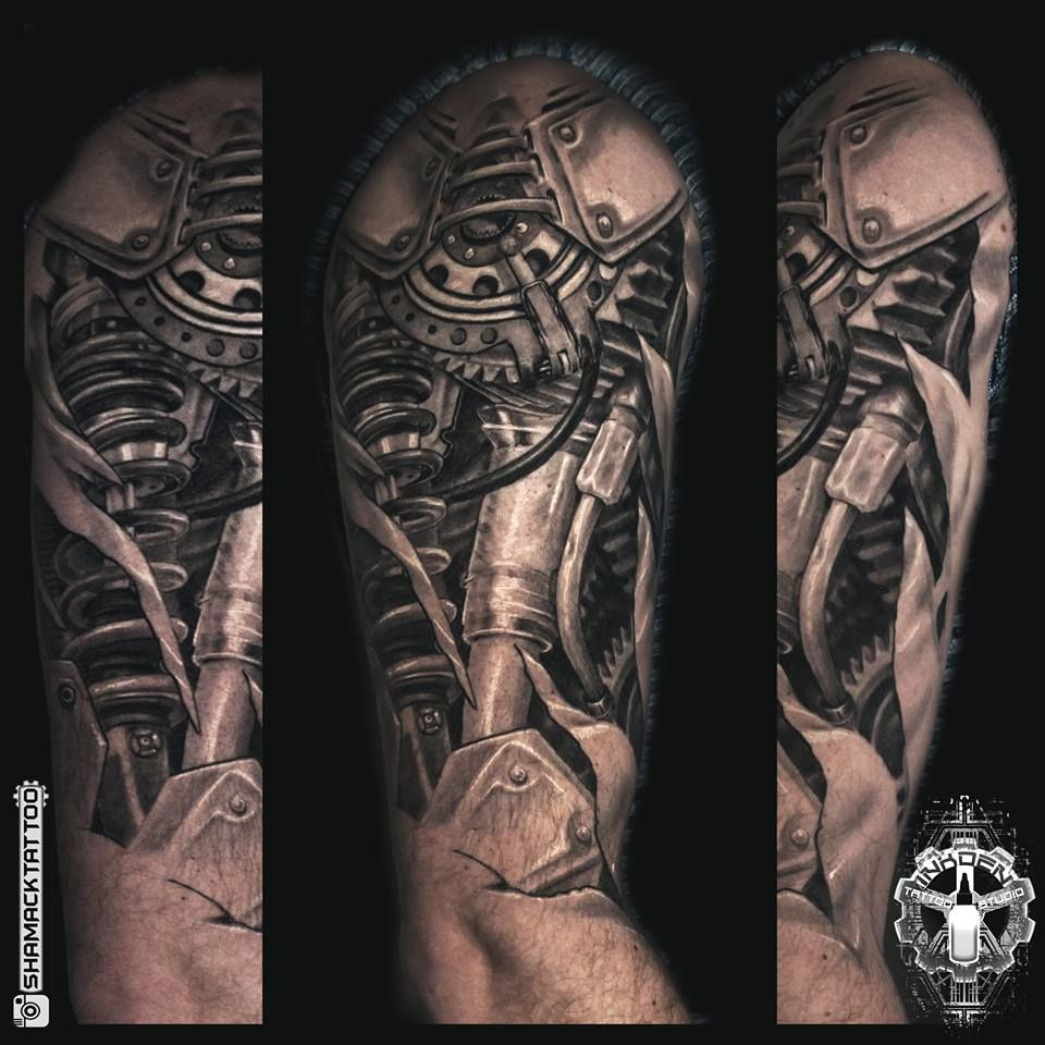 Biomechanical Full Sleeve Biomechanical Tattoo Mechanic Tattoo Z Tattoo