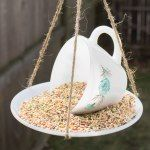 How To Make A Teacup Bird Feeder #craftstomakeandsell