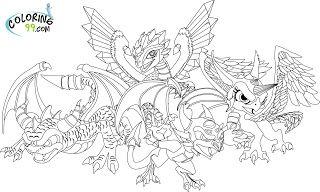 Skylanders Dragons Coloring Pages