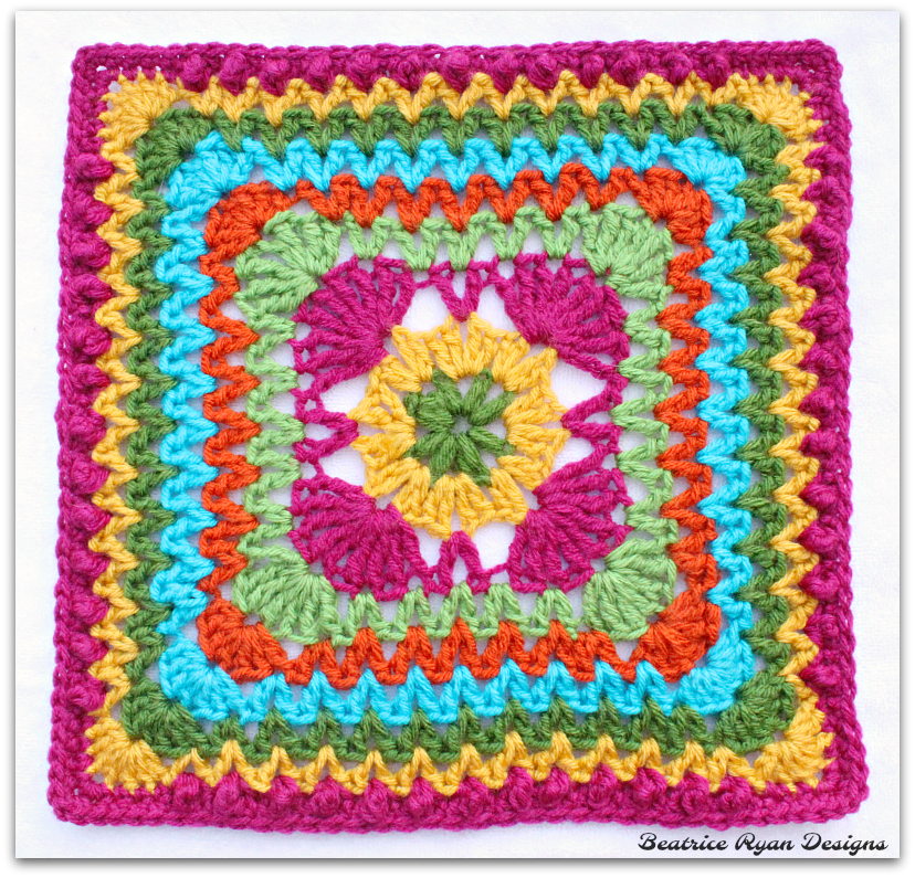 Ziggidy Zag Summer Square New Free Crochet Pattern Crochet