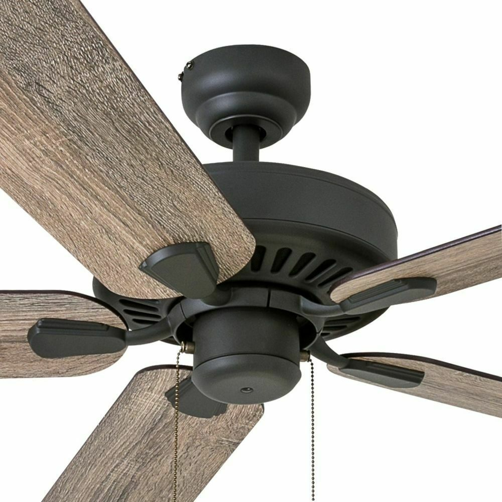 Rustic Ceiling Fan With Remote Low Profile Mount Farmhouse Wood