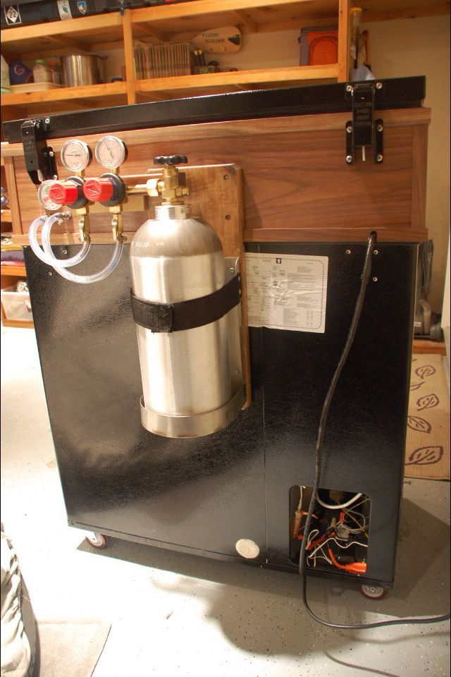 Brilliant Place For Your Co2 Tank Keezer Home Brewing Beer Beer Brewing Equipment Home Brewing