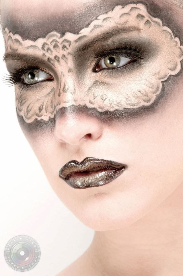 Masquerade    Makeup - ShowMe MakeUp  Model - Kate Errington  Photography - Martin Higgs Avant Garde MakeUp