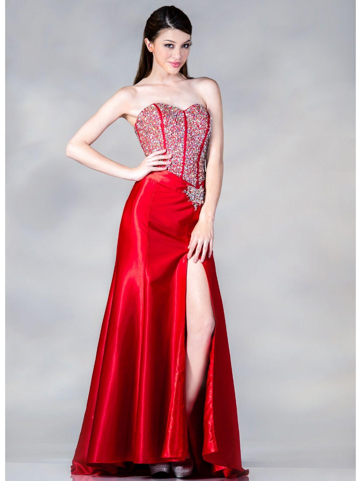 Prom corset dress red