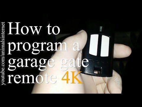 How To Program A Garage Gate Door Remote In 2 Simple Steps Como Programar O Comando Controle Do Portao Da Garagem Em 2 Etapas Simples Garagem Portao Sinais