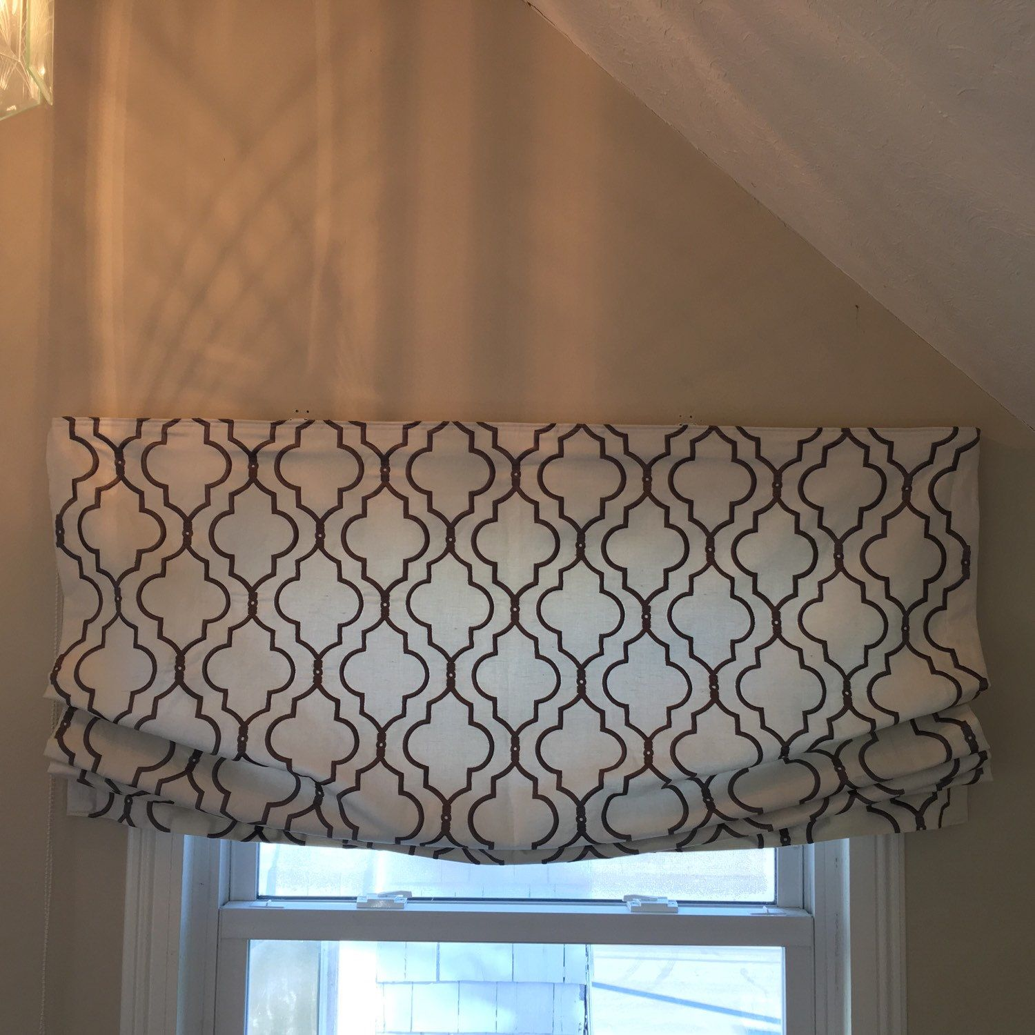 Cheap roman shades clearance - Childsafe Custom Relaxed Roman Shade Clutch System Fully Encased Cording Ballard Panel Turned Into Shade Firenze Do Not Purchase Listing