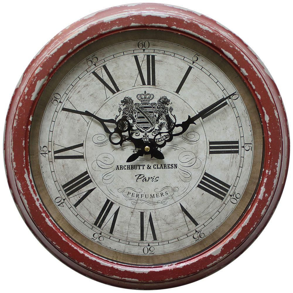 yosemite home decor 16 in circular iron wall clock in on wall clocks id=51308