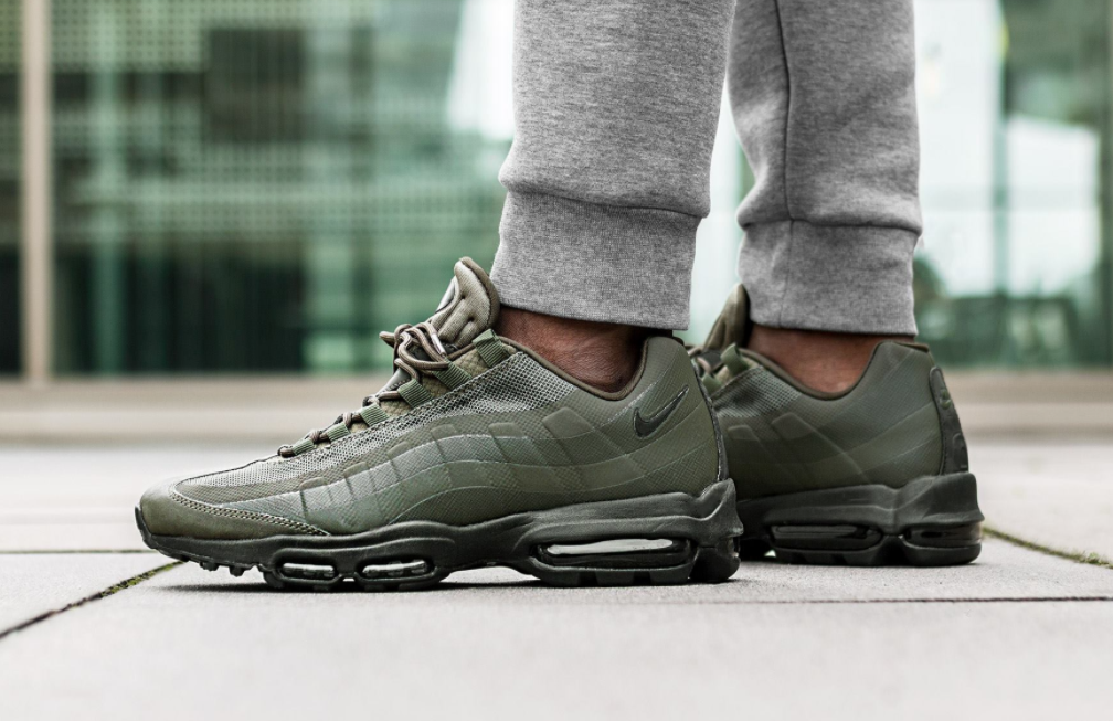 Cargo Khaki   Black Land On The Latest Nike Air Max 95 Ultra Essential 7e61986fa