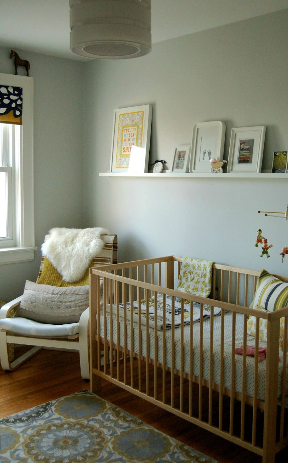 I like the shelf above the cot but also the placement of