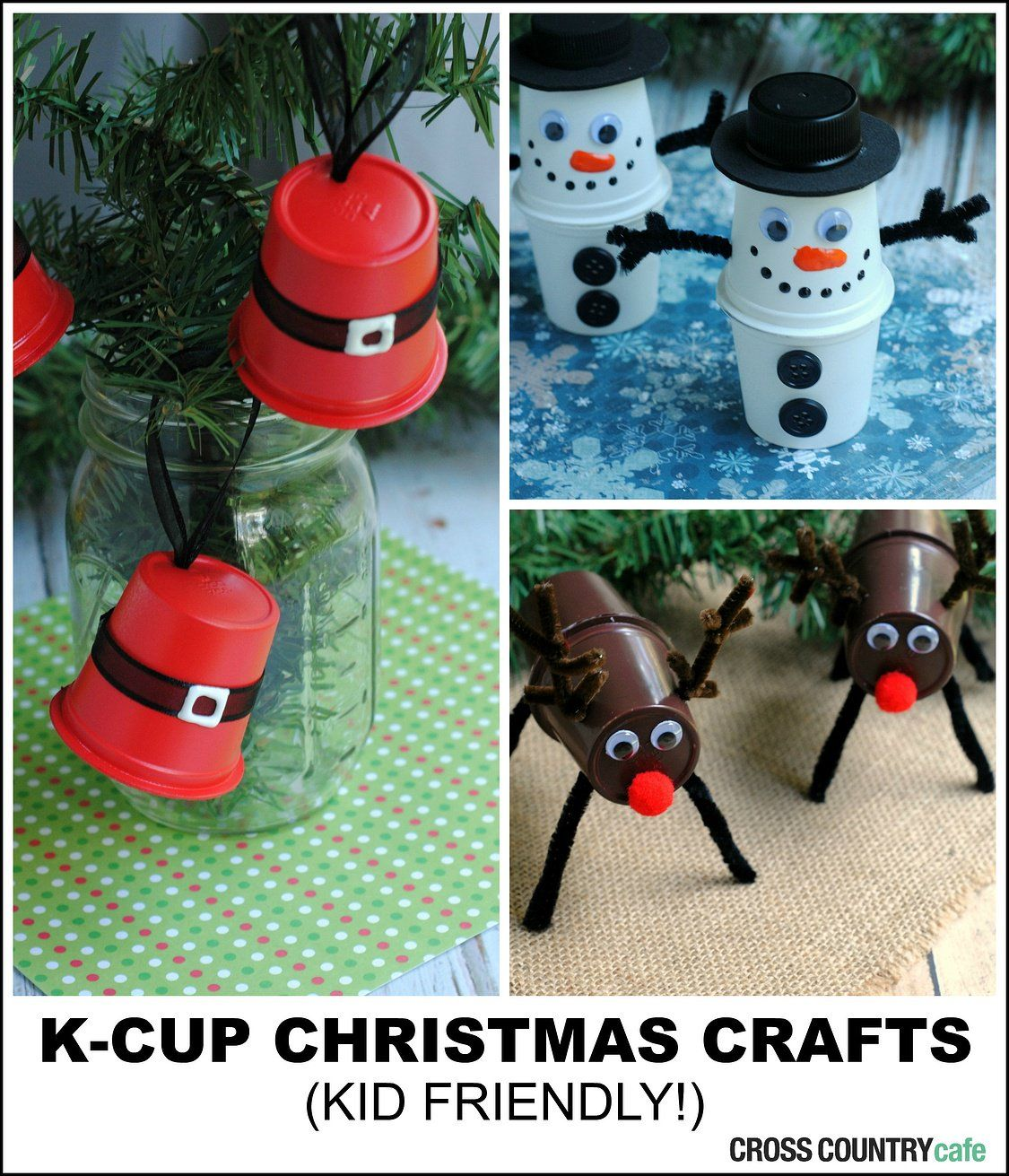 KCUP® POD CHRISTMAS UPCYCLING - K cup crafts, Cup crafts, Christmas crafts, Xmas crafts, Crafts, Coffee pods crafts - Upcycle Keurig Kcup pods into adorable Christmas crafts that are kid friendly!