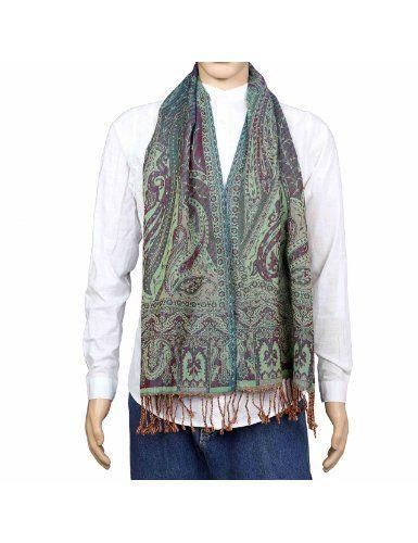Écharpe indienne colorée motifs Cachemire - Étole fashion 100% laine -  Boutique indienne - Idée cadeau noël homme 30 x 152 cm  Amazon.fr   Vêtements et ... 1188bb0135c