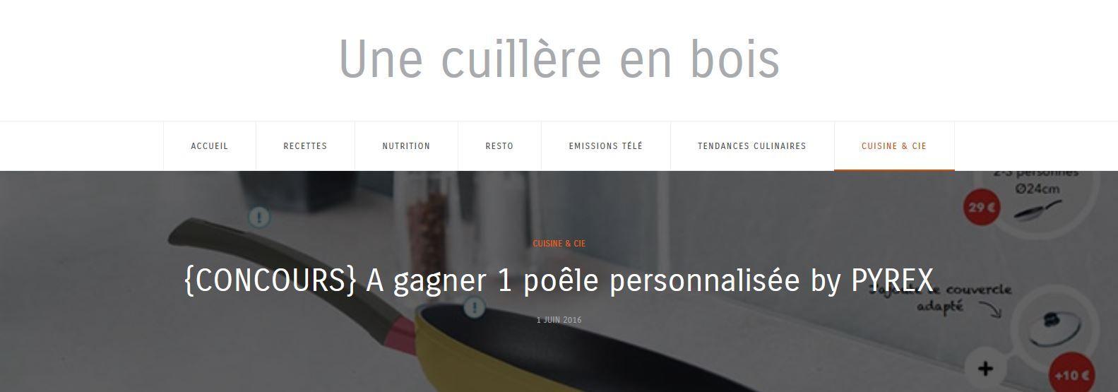 {CONCOURS} A gagner 1 poêle personnalisée by PYREX Avec @1cuillereenbois