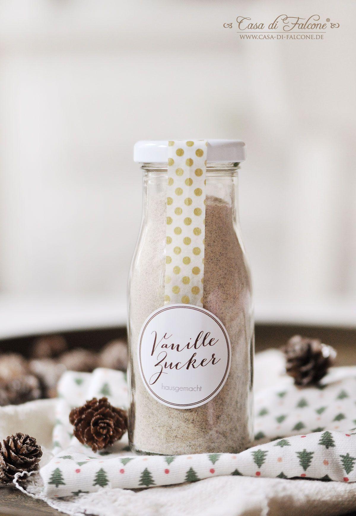 Rezept & Verpackungsidee für Vanillezucker   Geschenke aus der Küche ...