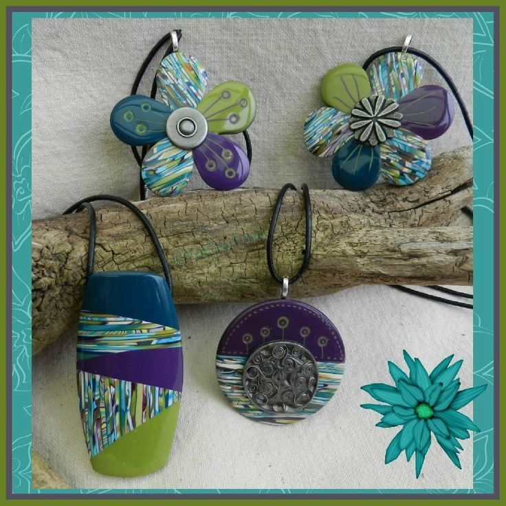 polymer clay cane patterns | Using the Stroppel cane in various patterns.