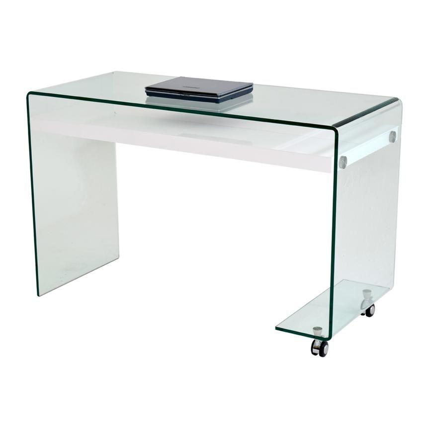 Mirage Clear Desk W Casters Clear Desk Desk Wood Steel
