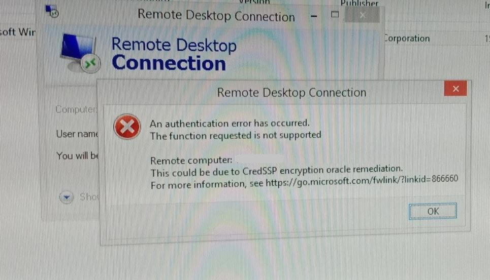 Solved Remote Desktop Connection Not Working Windows 10 1903