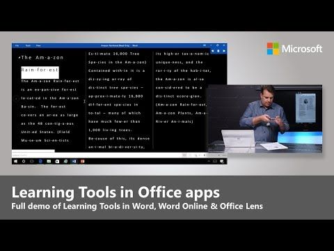 Microsoft Learning Tools In Office Lens Word Desktop And Online