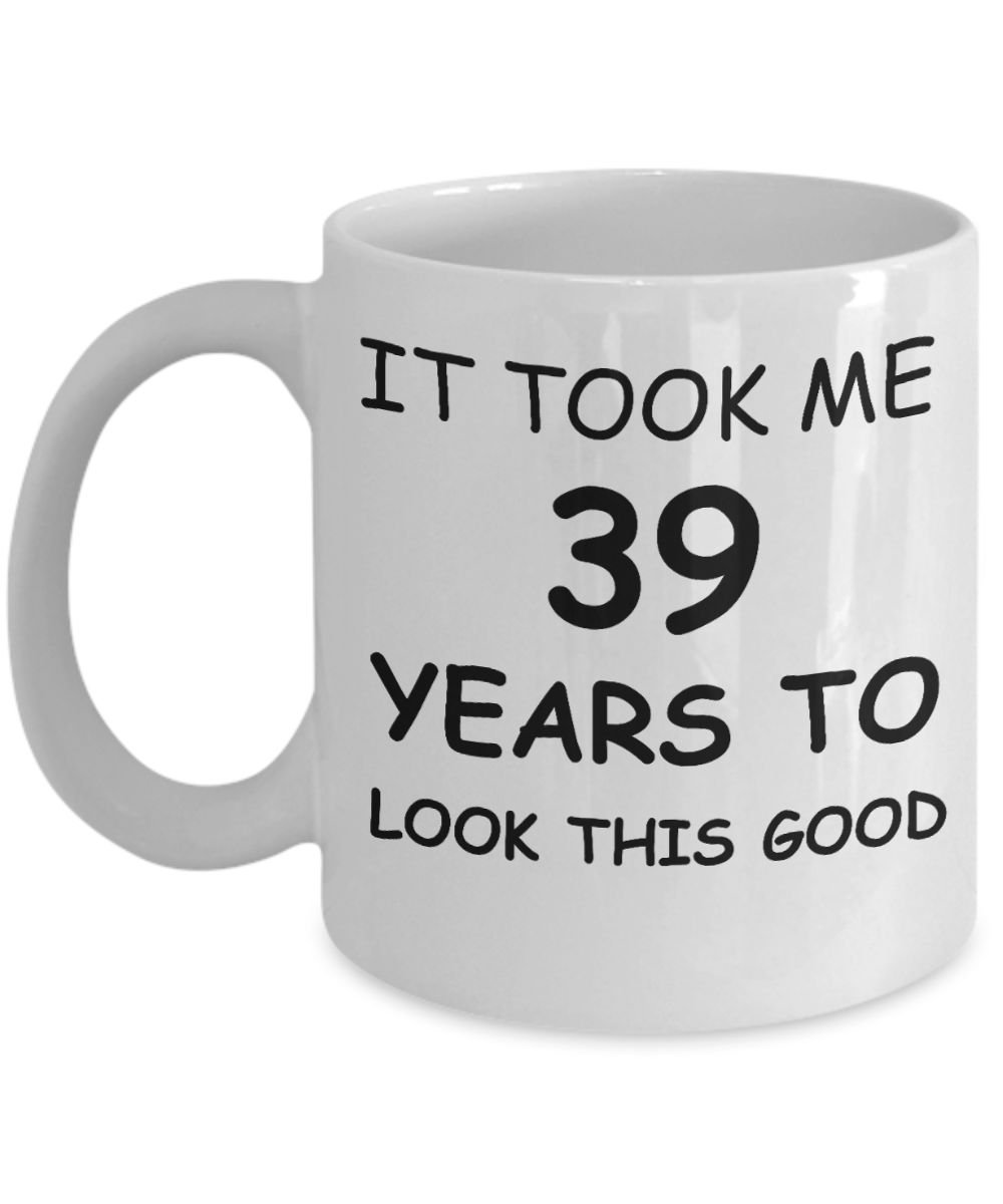 39th Birthday Gifts For Men Women Gift Mugs
