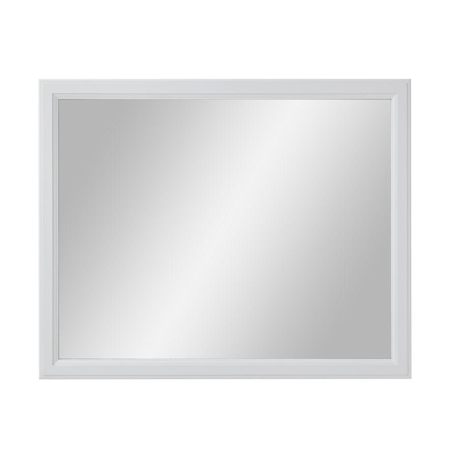 Diamond FreshFit Calhoun 42-in W x 34-in H White Rectangular ...