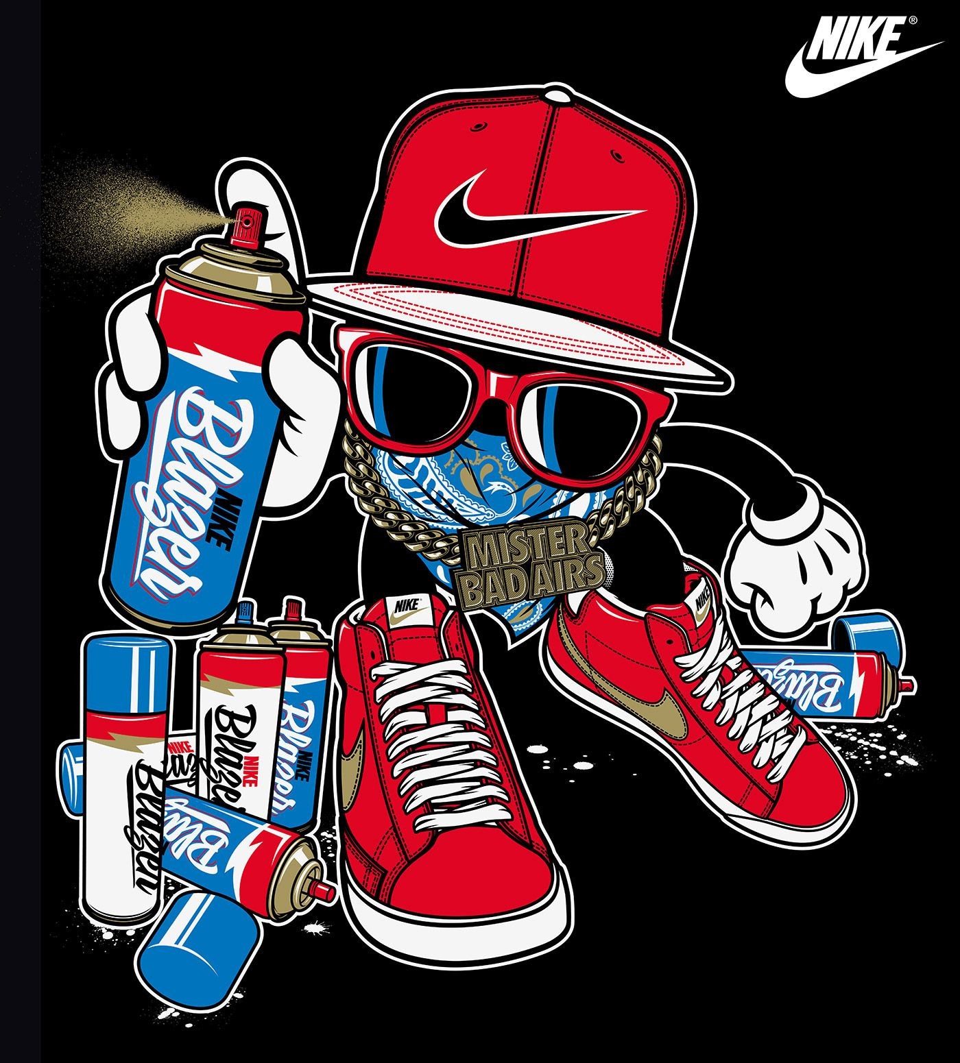Nike vs. Rusc • Young Athletes on Behance Art Graphic