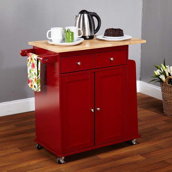 Kitchen Utility Cart Rolling Island Storage Shelf Cabinet Stand Table Rack Wood