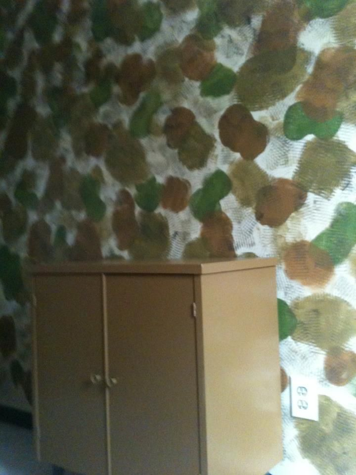 Sponge Painted Walls For Camo Effect What Not To Do If Using Animals Within
