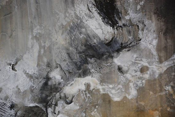 Große moderne Malerei auf Leinwand, abstrakte Kunst, braun-schwarz