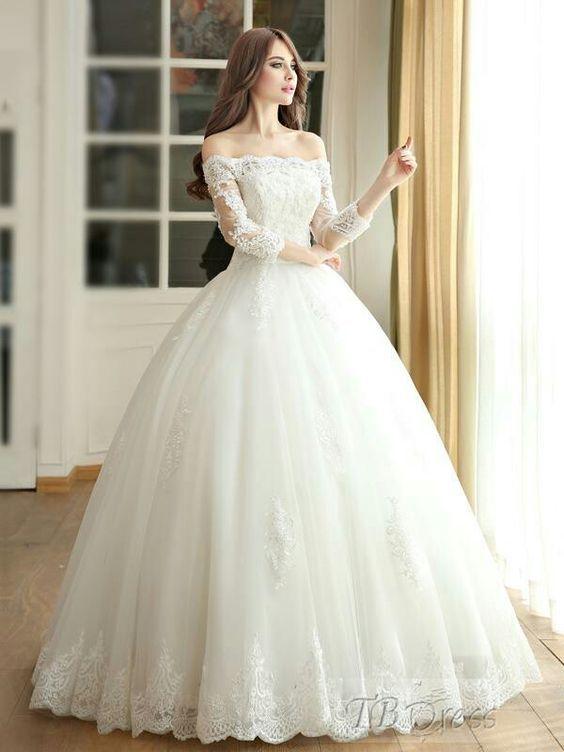 Vestido de novia corte ampon
