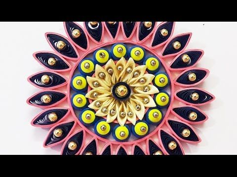 DIY Wall Decor Ideas : How to Make Quilling & Kanzashi Wall Hanging ...