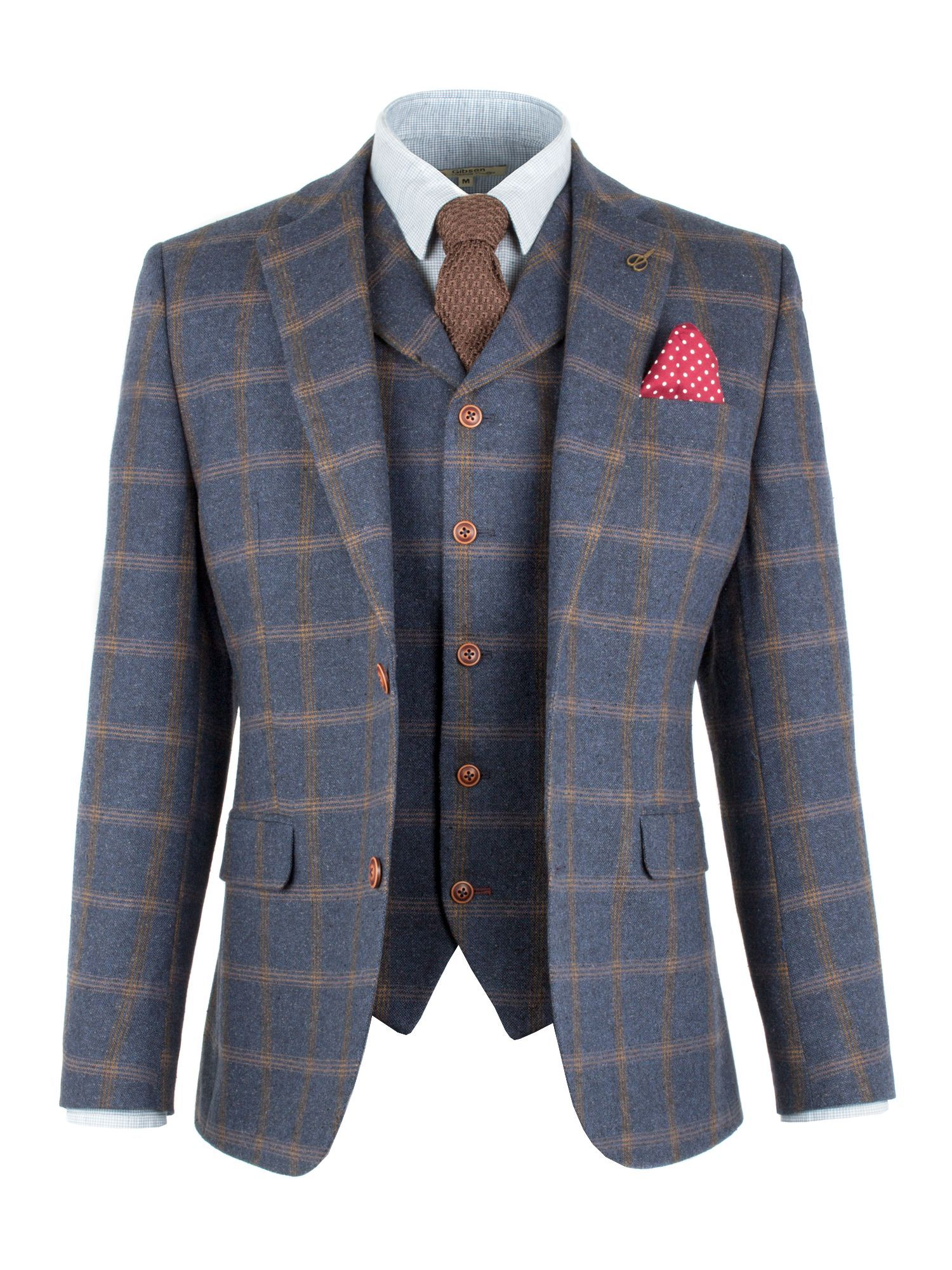 be8c95e9b Buy: Men's Gibson Blue And Tan Check Jacket, Blue for just: £108.00 ...