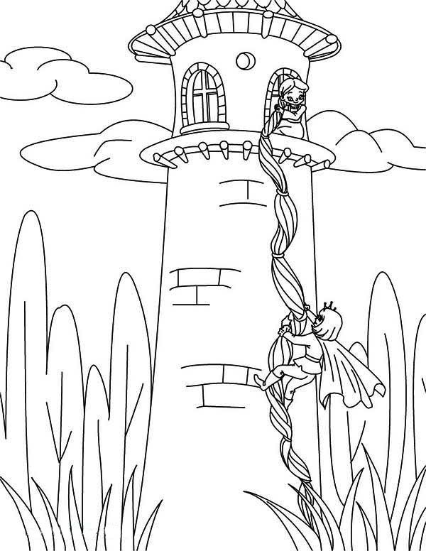 Rapunzel Coloring Pages Rapunzel Coloring Pages Castle Coloring