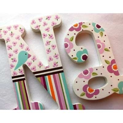 Letras en mdf nombre infantil nacimiento candy bar bs 1 - Letras decorativas para ninos ...