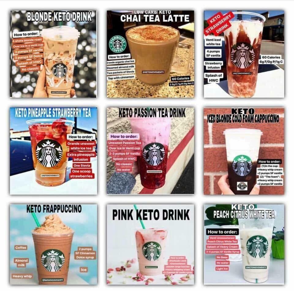Pin By K K On Keto Starbucks In 2019