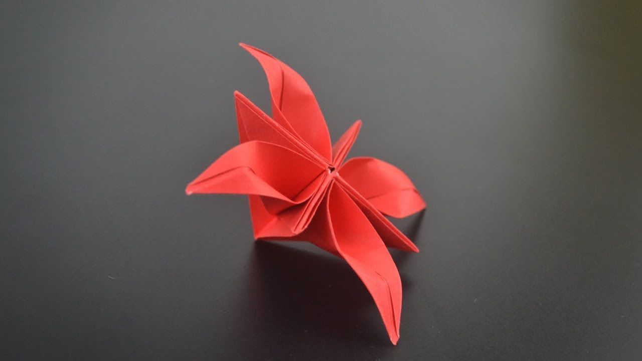 Origami Watsonia Flower Instructions In English Br Youtube