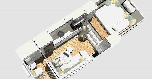 mcm design motorhome tiny house 08 600×495   Custom Truck RV: Modern Motorhome Living or a Tiny House